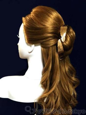 実写版「美女と野獣」ベルの髪型完成イメージ左側