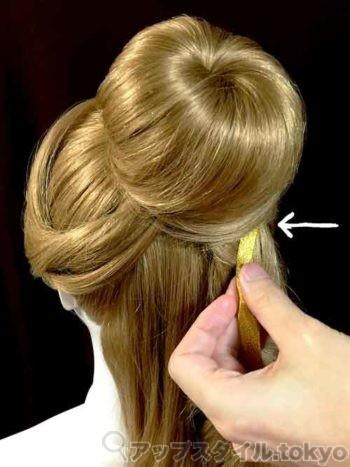 ベルの髪型手順4の解説の補助をする画像です。