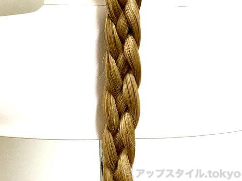 四つ編みの画像