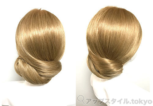 『ヘアアレンジ』クラシカルなまとめ髪アレンジの完成イメージ