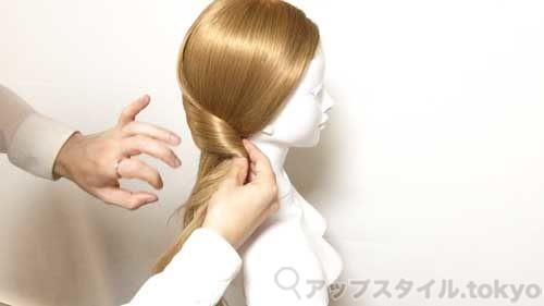 クラシカルなまとめ髪アレンジ手順