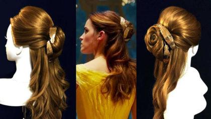 実写版「美女と野獣」ベルのハーフアップ 髪型の作り方