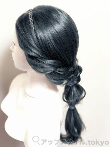 『アラジン』ジャスミンの髪型(黒髪ver)