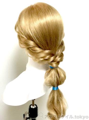 『アラジン』ジャスミン風ヘアアレンジ(髪型)完成イメージ後ろ