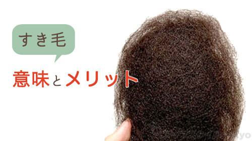 ヘアセットに便利な「すき毛」の入れる意味とメリット
