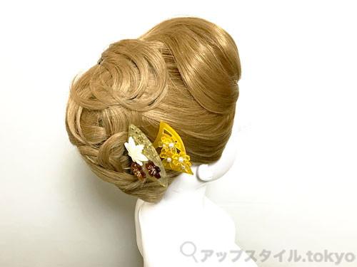 着物に合う夜会巻き風の髪型 サイド
