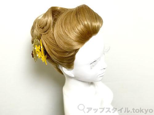 着物に合う夜会巻き風の髪型 フロント