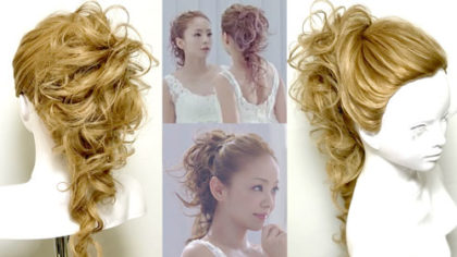 【安室奈美恵】エスプリークCM(2014ver)の髪型の作り方解説