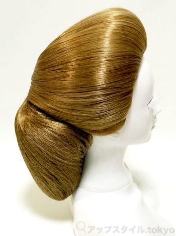 【極妻・髪型】岩下志麻風の和髪シニヨン、横