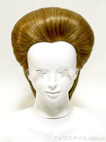【極妻・髪型】岩下志麻風の和髪シニヨン、正面