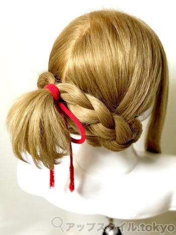 「君の名は。」三葉(みつは)の髪型・ヘアアレンジの作り方、完成