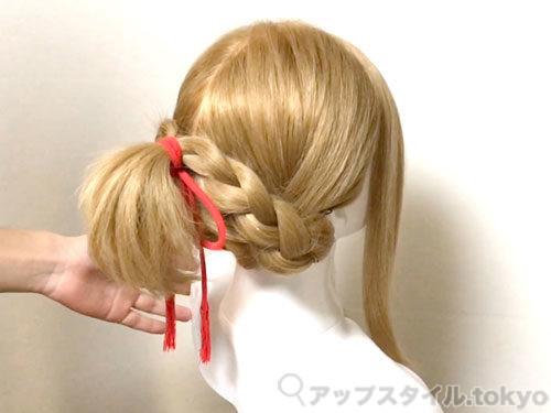 「君の名は。」三葉(みつは)の髪型・ヘアアレンジの作り方11