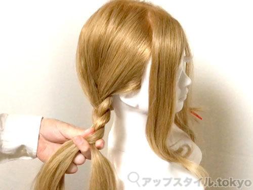 「君の名は。」三葉(みつは)の髪型・ヘアアレンジの作り方3