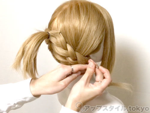 「君の名は。」三葉(みつは)の髪型・ヘアアレンジの作り方7
