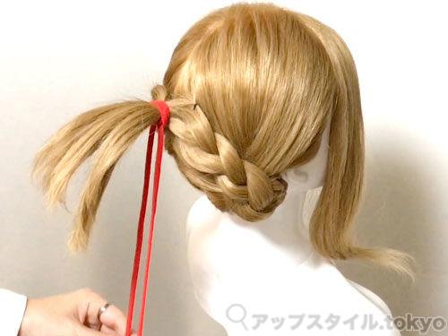 「君の名は。」三葉(みつは)の髪型・ヘアアレンジの作り方8