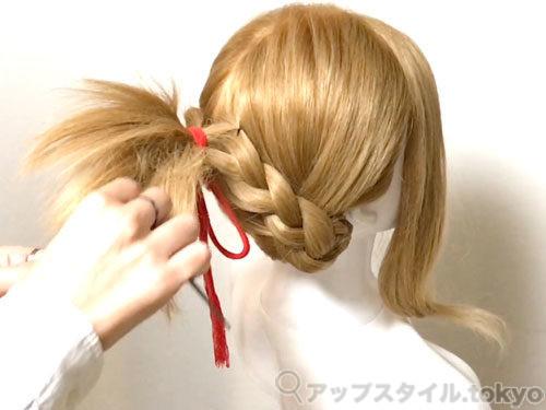 「君の名は。」三葉(みつは)の髪型・ヘアアレンジの作り方9