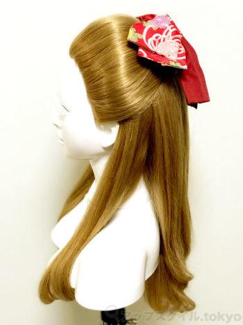 【卒業式・髪型】ハイカラ女学生風レトロなハーフアップ(束髪くずし風)横