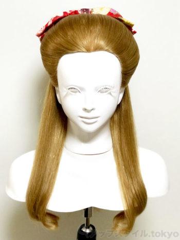 【卒業式・髪型】ハイカラ女学生風レトロなハーフアップ(束髪くずし風)正面