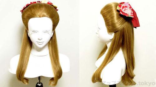 【卒業式・髪型】ハイカラ女学生風レトロなハーフアップ(束髪くずし風)画像