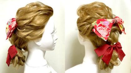 【卒業式・袴】レトロな髪型「マガレイト」をルーズにアレンジ