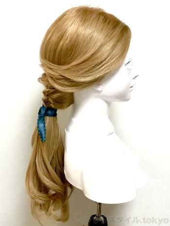実写版「美女と野獣」町娘ベルの髪型完成イメージ・よこ