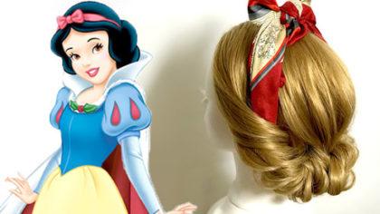 スカーフで作る!簡単・白雪姫風 ギブソンタックヘアアレンジ