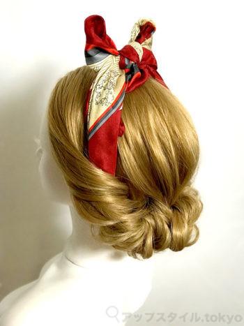 白雪姫風 髪型 完成画像